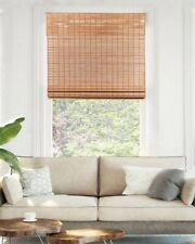 CHICOLOGY Cordless Bamboo Roman Shades Light Filtering Window Treatment 31x64