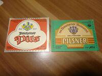 Bier Etiketten 2 Stück 1x DDR VEB Bautzner Brauerei 1 x GmbH Bautzen NEU