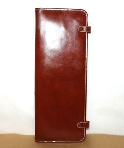 ❤️British Tan Top-Grain Cowhide Tie Hanging Organizer USA Vintage Case L@@K!