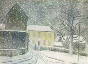 Canns Down Pack of 5 Charity Christmas Cards by E Ravilious - Halstead Road in S