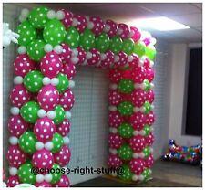 100 Uni & Gepunktet Mix Luftballons Für Jahrestag Ostern Celebrations Party