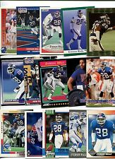 Everson Walls 15 card lot Grambling St. Tigers / New York Giants