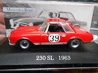 MERCEDES BENZ W113 230SL 230 Rallye Liege Sofia 1963 Böhringer IXO Altaya 1:43