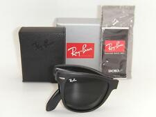 Authentic New Ray-Ban Folding Wayfarer Matte Black / Green  RB 4105 601S 54mm