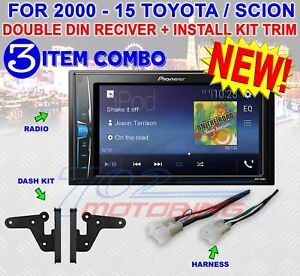 FOR TOYOTA SCION BLUETOOTH USB RADIO STEREO INSTALLATION DOUBLE DIN DASH KIT NEW