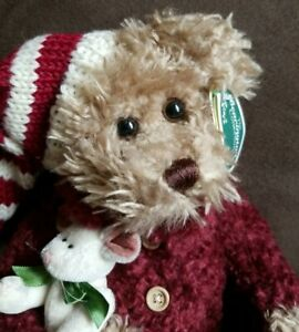The Bearington Collection~Twas the Night Before Christmas Stuffed Plush Bear NWT