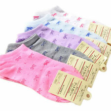 5 pairs Of Women Girls' Bowknot Ankle Low Cut Sport Cotton Socks Random Color NE