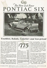 1927 Vintage Pontiac Six Sport Roadster Car Automobile Art Print AD