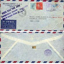 Crash mail letter 1955 Belgique
