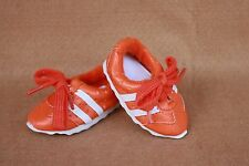 Doll  Shoes fitting 18 in American Girl Orange & White Vinyl Tennis Shoes