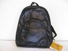Genuine Lambskin Leather Shoulder Bag/Backpack (Black)