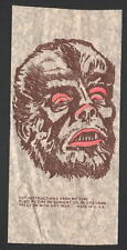 Vintage Universal Monsters The WOLFMAN T-Shirt TRANSFER UNUSED w INSTRUCTIONS