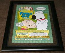 """Family Guy: Mini Poster -Sell Sheet season 2 / Double Sided 8-1/2"""" X 11"""" Framed"""