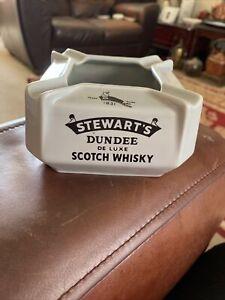 Stewarts Dundee De Luxe Scotch Whisky Ceramic Pub Ashtray Crown Devon