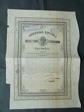 MEXICO: 3%+5% Ps.500- AGUILA NEGRA CONVENCION 1854