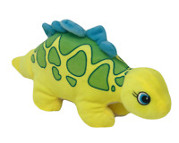 "World Plush Cretaceous Critters 12"" Yellow Stegosaurus Plushie Stuffed Dinosaur"