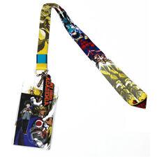 My Hero Academia Deku & All Might Lanyard ID Badge Holder & PVC Logo Charm New