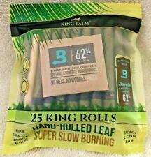 King Palm - 25 King Rolls. Hand-Rolled Leaf. NO Tobacco, NO Additives, NO Glue