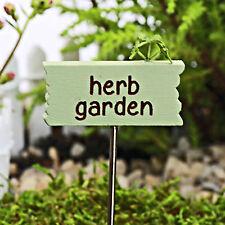 Herb Garden ~ Miniature Sign Fairy Garden ~ Cake Decoration Dolls house Handmade