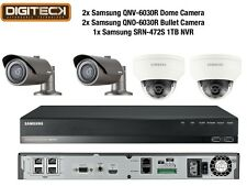 Samsung 2MP Cctv Seguridad Paquete 4 Cámara Full HD 1080p IP POE + 1TB NVR Kit