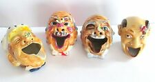 4 GREAT HOBO/CLOWN HEAD ASHTRAYS - BEE ON NOSE  COMICAL!!!
