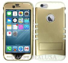 Light GOLD Armor Shock Proof Hybrid Soft Hard Cover Case for Apple Phone iPod