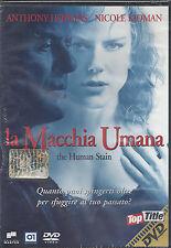 Dvd **LA MACCHIA UMANA** con Anthony Hopkins Nicole Kidman nuovo 2003