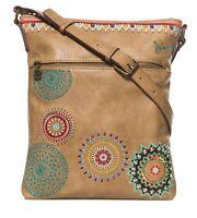 Desigual Siara Ghana Across Body Bag Umhängetasche Tasche Beige Safari Braun Neu