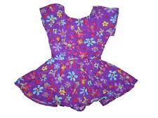 Girl Purple Butterfly FLower Jacques Moret Skirted Leotard Dance Size S 6/7