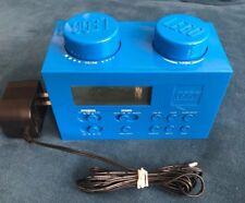 LEGO Block Portable Digital Alarm Clock Radio AM FM BLUE (WORKS) LG11007 +CORD