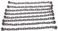 LEGO - 8 x Kette dunkelgrau mit 21 Kettengliedern / Chain / 30104 NEUWARE