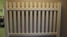 Made in USA 6' x 4' Vinyl Picket Fence Section with one post  NO GLUE NO SCREWS