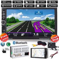 """GPS Navi 7""""Doppelte 2DIN Bluetooth Auto Stereo Radio Mp3 Player FM/USB+Karte+CAM"""