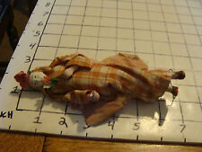Original Vintage CHINESE doll: aprox 6 1/2  inch woman w/ flowers w/ wire base