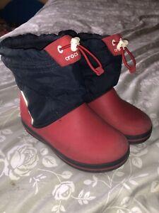 Boys Crocs Rain/snow Boots Size 12 Waterproof