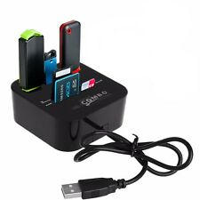 All In One Multi-card Reader 3 ports USB 2.0 hub Combo for SD/MMC/M2/MS FTMP
