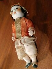 Antique Vintage Asian Chinese Girl Doll Bisque 7 inch
