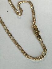10k ITALY Yellow Gold Figaro Ankle Bracelet Chain  Anklet Ladies Women Teen