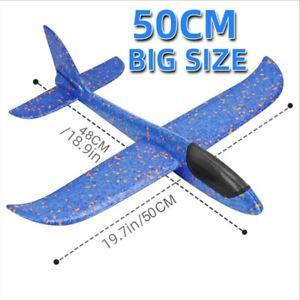 50CM Big Plane Glider Hand Throw Airplane Light Inertial EPP Bubble Planes Toys