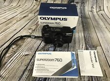 Olympus Superzoom 760 35mm Camera Auto Focus Point & Shoot Instructions & Box