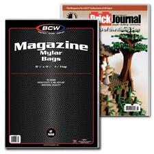 50 BCW MAGAZINE SIZE 2 MIL MYLAR BAGS ARCHIVAL ACID FREE SOFT COVERS