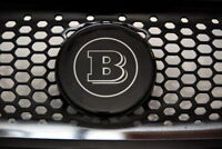 Great Brabus logo for front grill Smart ForTwo 453 & ForFour II black&sliver