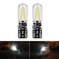 2x White T10 194 W5W 1W  COB Super Bright LED Light Bulb DC 12V