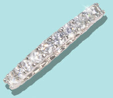 1 ct tw Micro Pave Eternity Ring Top Russian CZ Moissanite Simulant .925 Sz 11