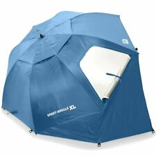SKLZ Sport Brella Extra Large Beach Umbrella (Steel Blue)