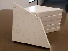 6x Shower Corner Shelf Granite Quartz White Gray