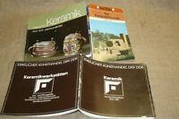 3x Sammlerkatalog & Fachbuch Keramiker Keramik Töpfer Töpferei Steinzeug Fayence
