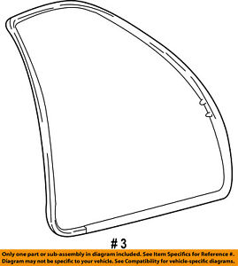 FORD OEM Front Door-Weatherstrip Seal on Body F75Z7820708AB