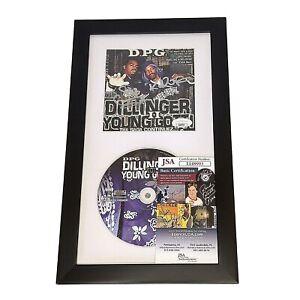 Kurupt and Daz Dillinger Signed DPG Tha Saga Continuez CD Cover Framed JSA Snoop