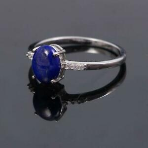 Simple Dainty Lapis Lazuli Ring,Tiny ring,925 Sterling Silver,Minimalist ring